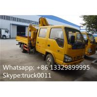 ISUZU 4*2 double cabs 2.5tons XCMG telescopic boom mounted on truck for sale, best price ISUZU truck with XCMG crane Manufactures