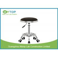Adjustable ESD Lab Chairs Laboratory Stool Chair with Wheel PU Leather Surface Manufactures