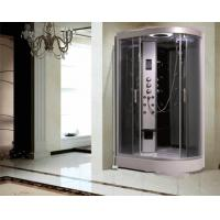 China Large Quadrant Shower Cubicle Shower Corner Unit With Sector Shape Sitting Bathtub on sale