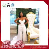 Luxury spa furniture pedicure spa with high back throne chair pedicure chairs white Manufactures