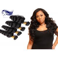 Thick Virgin Brazilian Hair Extensions Double Drawn Brazilian Human Manufactures
