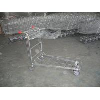 Supermarket cargo Warehouse Trolley with foldable basket and customized logo Manufactures