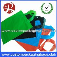 Soft Flex loop Die Cut Handle Plastic Bags / custom printed carrier bags OEM