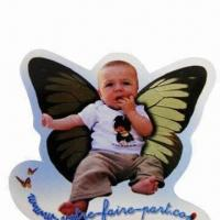 Refrigerator Magnetic Sticker with 157gsm Art Paper Upper, Eco-friendly Manufactures