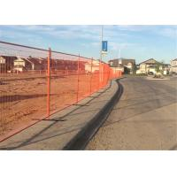 """9.5*6ft Mesh 2""""x4""""x9ga diameter Canada Standard RAL 2004 Orange Color Temporary Fence For Commercial build construction Manufactures"""