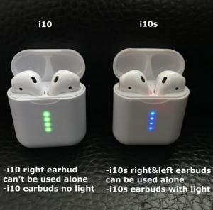 i10 tws 1:1 Pods 2 Size Original Bluetooths Earphone Pop-up Wireless Headphones Bass Stereo Mini Earbud Headset Manufactures