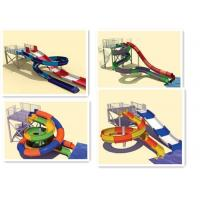 Family Water Slides Interactive Swimming Pool Water Slide Equipment For Holiday Resort Manufactures