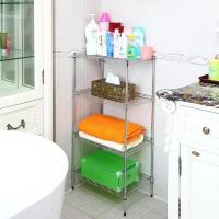 4 Layer Wire Bathroom Shelf Unit Chrome Plating For Organizing Or Displaying Accessories Manufactures