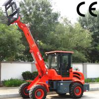 popular used telescopic wheel loader TL1500 with sand spreader, 1.5 ton mini backhoe loade Manufactures