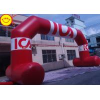 Air Blown PVC Giant Red Inflatable Arch With Six Large Removable Banners Manufactures