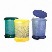 Trash Bins, Customized Logos and Designs are Accepted, Made of PP, OEM Orders are Welcome Manufactures