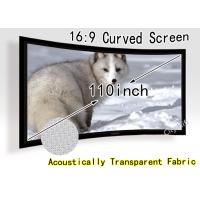 China 180 Degree Curved Projection Screen Fabric For Full Hd Led Projectors on sale