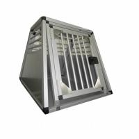 Household Aluminum Dog Cage for Car / Pet Grooming Cage Carrying Case