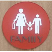 """UV Printed Text Braille Toilet Signs 1/4"""" Clear Acrylic Back Panel With CA 24 Title"""