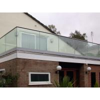 Top Slot Handrail U channel Glass Fixing Balustrade Manufactures