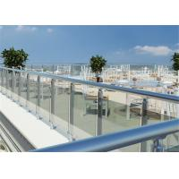 Indoor Stainless Steel Glass Railing Baluster Post Tempered Clear Glass Modern Style Manufactures
