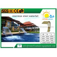 Corrosion Resistant Water Curtain Fountain , Stainless Steel Waterfall Blade304 Manufactures