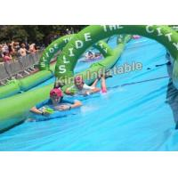 100×3m Giant PVC Tarpaulin Inflatable Slip Slide The City For Adult , Inflatable Water Slide Manufactures