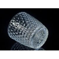 Embossed Nail Design Glass Candle Holder Christmas Deco Glass Candle Jars Manufactures