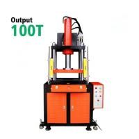 100T Tablet Hydraulic Steel Wire Rope Press Machine For Metal , Large Diameter Manufactures