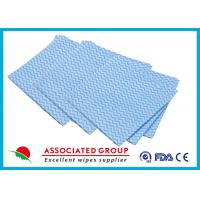 Buy cheap Printing Non Woven Cleaning Wipes Spunlace Cross Lapping 100% Cotton Folded from wholesalers