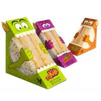 Custom Printed Triangle Sandwich Packaging Box Disposable Cute With Window Manufactures