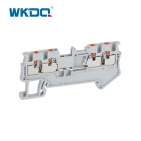 Din Rail Push In Connection Screw Terminal Wire Connectors CE / RoHS Certification Manufactures