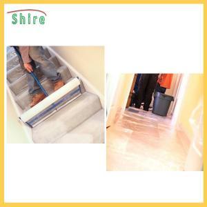 Protective Carpet Shield Self Adhesive Film Mask , Carpet Masking Film Manufactures