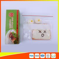 Custom Resealable Plastic Sandwich Bags With Write Panel , Zip Lock Pouch Bags Manufactures