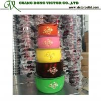 Colorful 10 PCS Stainless steel cookware set  flower printed coating16cm 18cm 20cm 22cm 24cm Manufactures