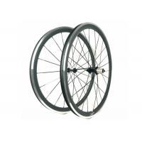 38MM Clincher Carbon Wheels Aluminum Braking Surface 23MM Width Toray 700 Manufactures