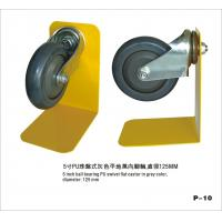 4 Inch Black PU Wheels , Shopping Trolley Castor Wheels With Ball Bearing Manufactures