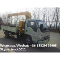 2018s High quality and best price FORLAND 4*2 LHD/RHD 2-3.2tons small truck with crane for sale,telescopic crane truck Manufactures