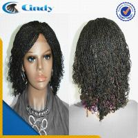 China high quality new style cheap short lace front box braided wigs for black women on sale