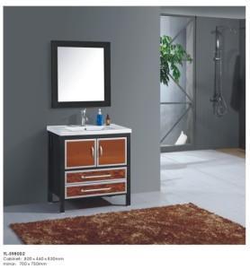 Solid wood bathroom cabinet vanity YL-S98002 Manufactures