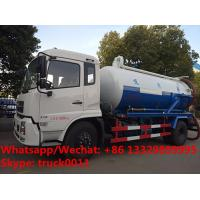 customized Dongfeng 4*2 RHD 10,000Liters vacuum tank truck for sale, Factory sale cheaper price sewage suction truck Manufactures