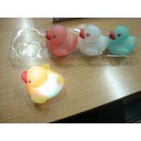Quality Water Sensor Activated Flash Rubber Ducky Set , Flashing Light Baby Bath for sale