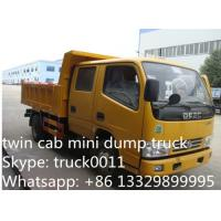 Quality HOT SALE! Dongfeng 4*2 double cabs light duty 3tons dump tipper truck, Factory sale high quality and lower price tipper for sale