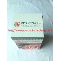 Custom Cigar Humidor Bags / Cigar Wraps with Zipper and Window Manufactures