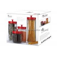 Clear Glass Storage Canisters / glass jar storage containers with lids 2.6L  1.5L Manufactures
