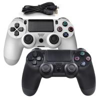 Hot wired controller for Playstation 4 usb wired gamepad for PlayStation 4 Black and White