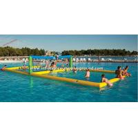 Outdoor Large Inflatable Water Games , Floating Inflatable Volleyball Court Manufactures