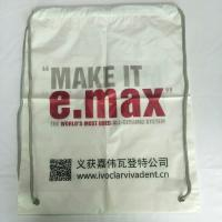 Rope Shoulder Custom Plastic Drawstring Bags Double Layer Material Synthetic Manufactures