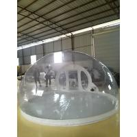Clean And Interesting Outoor Transparent Inflatable Bubble Tent 0.55mm PVC Manufactures
