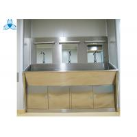 Three Mirrors Hand Washing Bathroom Basin Cabinets With Three Positions Automatic Induction Manufactures