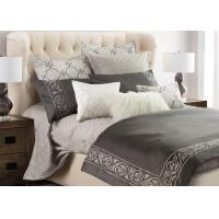 Leaf Embroidered Twin Size Bedding Sets 4 Pcs Color Customized With Different Size Manufactures