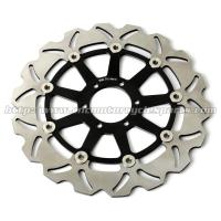 300mm Motorcycle Brake Disc Disk Brake Parts Yamaha FZR 600 XJR 400 Anodized For Black Gold Manufactures