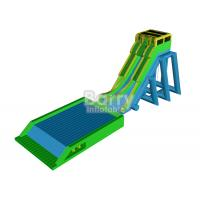 Outdoor Giant Inflatable Slide For Event , Tall Drop Kick Water Slide With Platform Manufactures
