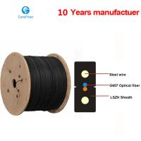 One Core Indoor Drop Cable Bow-type GJXH Steel Wire Optical Fiber Cable Manufactures