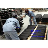 China Colorful Sand Colour Coated Metal Roofing Sheets High Corrosion Al-Zn Plate on sale